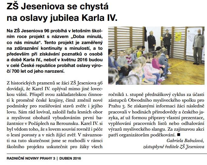radniční noviny duben 2016 Karel IV